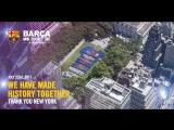 Более 3000 болельщиков «Барсы» выложили футболку клуба в парке на Манхэттене