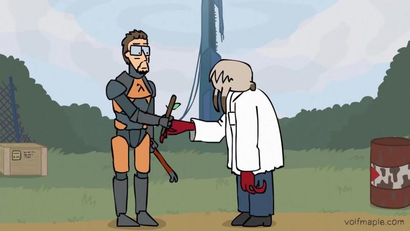 Хедкраб, принеси палку! (анимация_ VolF Maple)