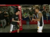 UFC Champion Anthony Pettis teaching the Showtime Kick at the Paradise Warrior Retreat event