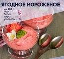 Творожно-ягодное мороженое
