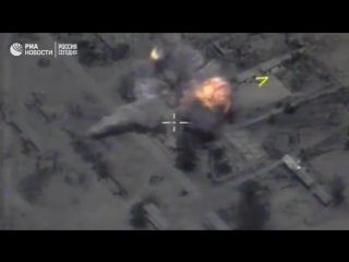 Минобороны опубликовало видео ударов Калибрами по боевикам ИГ у Пальмиры