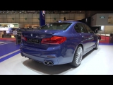 4k G30 BMW Alpina B5 BiTurbo, B7 BiTurbo, B4S BiTurbo and D3 STAND OVERVIEW at Geneva Salon 2017
