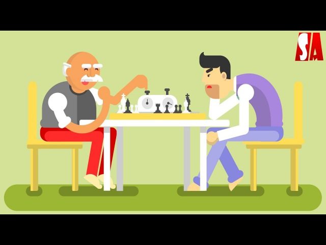 Chess Players Illustration Drawing Process | Inkscape