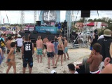 Seba & Robert Manos on La Cinta beach at Sun and Bass 2017