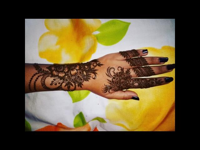 Easy Fine Art Gulf Mehndi Design For Hands | Beautiful Henna Latest Mehndi Trick 2017-2018