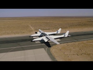 Stratolaunch carrier aircraft first taxi test at Mojave Air & Space Port - Dec.2017 - short clip