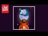 Live DESIGN Photoshop - Designing illustrations Astronauts with PHOTOSHOP - Random FLAT DESIGN
