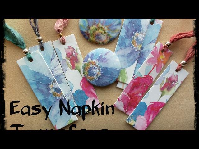 Трансфер на полимерной глине. Easy Napkin Transfers for Polymer Clay