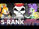 Cuphead - All World 3 Bosses Expert Mode, S-Rank