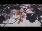 Chinese Traditional Painting : grapes & bird