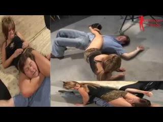 Mixed Wrestling Headscissors - Lana - 2