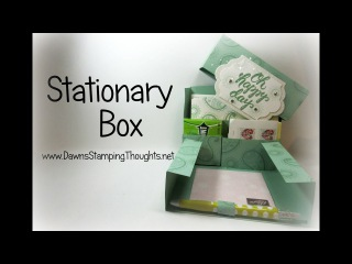 Stationary Box using Paisleys Posies stamp set from Stampin'Up!