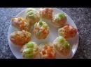 Яйца фаршированные грибами Очень вкусная закуска на скорую руку