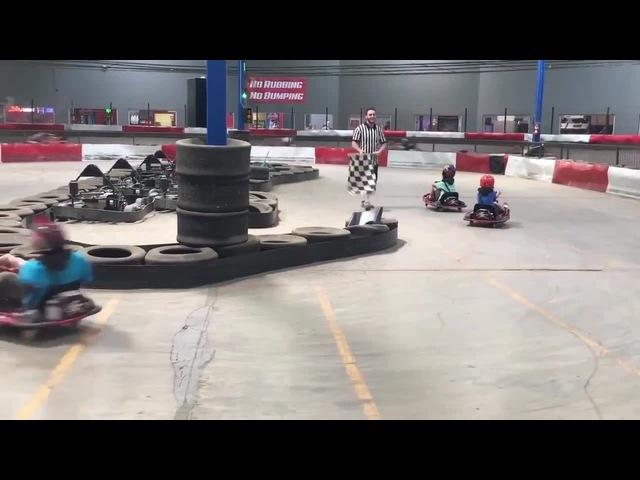 Forever Spinning Kid On Go Kart