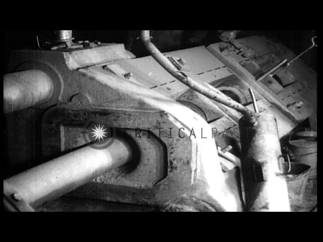 First phase of munitions manufacture in a German factory during World War I HD Stock Footage
