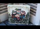 Decoupage Tutorial Christmas Canvas - Χριστουγεννιάτικος Καμβάς - Diy