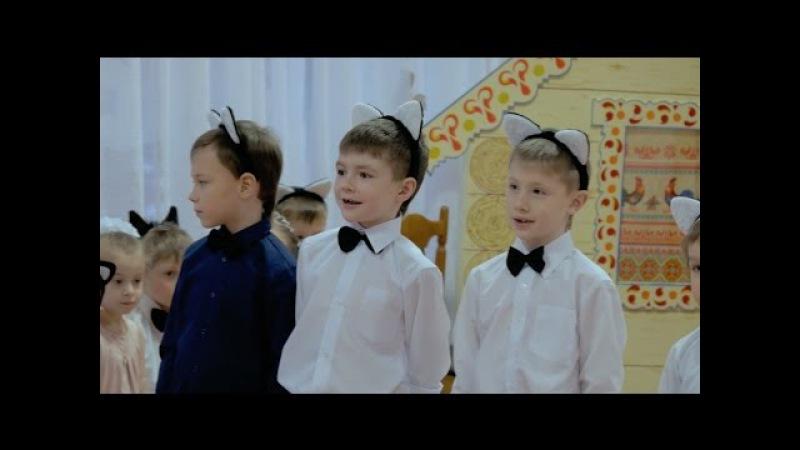 Новогодний праздник в детском саду. Съёмка тремя камерами..