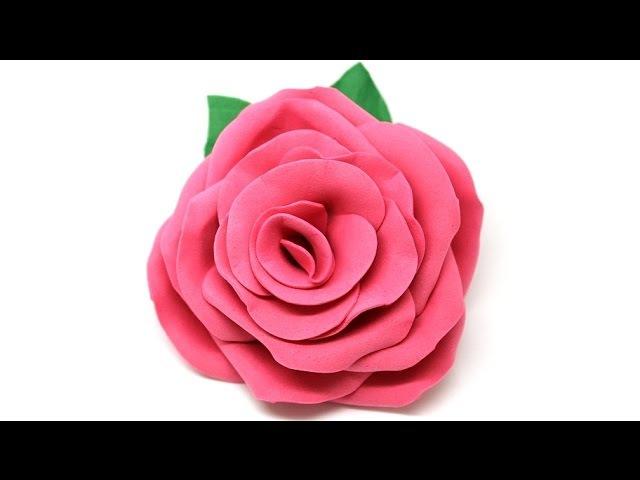 Брошь роза из фоамирана мастер класс для начинающих
