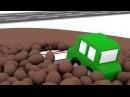 Dessin animé pour enfants de 4 voitures: construction d'une ambulance