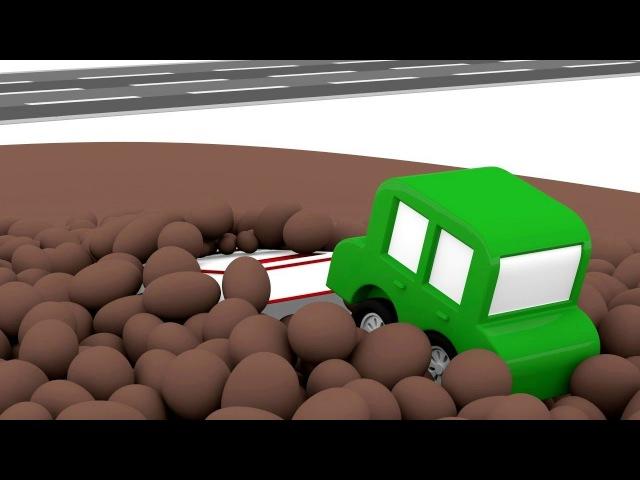 Dessin animé de 4voitures 4cars en français : construction d'Ambulance🚑 Apprendre les couleurs