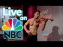 Shirtless Violinist Live on NBC Interview Performance King 5 New Day Northwest