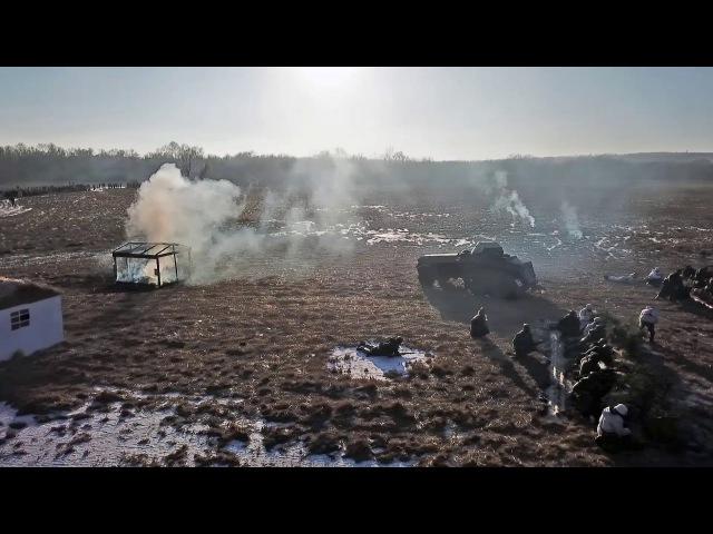Военно-историческая реконструкция освобождения Россоши 14.01.18 rossoshru.ru