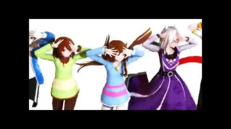 [ MMD Undertale ] Dance Battle [ Frisk , Chara , Toriel , Papyrus , Sans ]