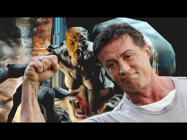Сильвестр Сталлоне играет в Doom 3 Часть 2