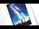 Видео урок рисования акварелью Млечный путь Превью к уроку