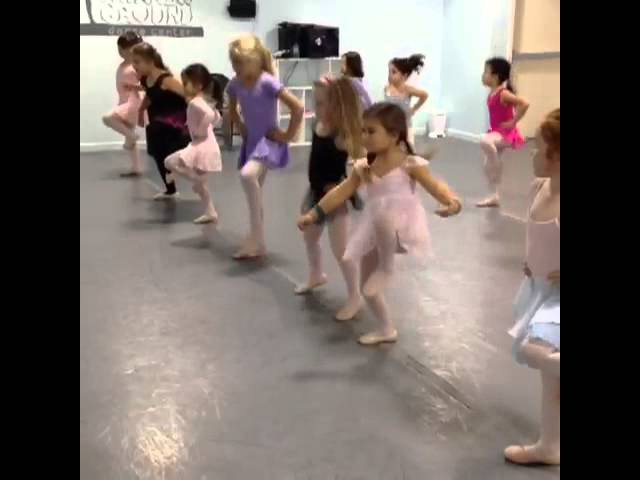 Miss Gina's 5-6yrs dancers learning the pas de chat TUTU cute