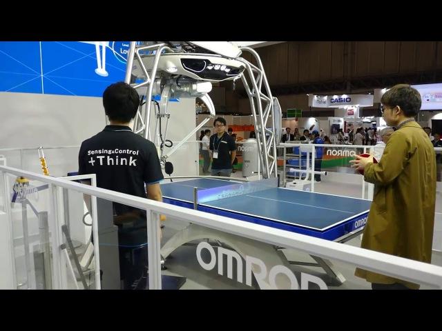 Робот-учитель по настольному тенису. Omron's FORPHEUS at CEATEC 2017