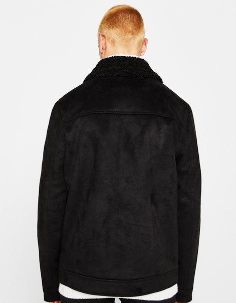 Куртка с воротником из искусственной овчины