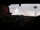 Авиаудар ВВС Сирии по позициям боевиков, которые в плотную приблизились к позициям сирийских военных. Солдат снимает всё происхо