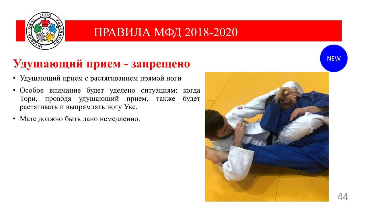 IJF 2018-2020 * Новые правила ДЗЮДО
