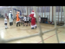 Моя команда встречает Дедушку Мороза
