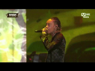 Wiz Khalifa - Young Wild & Free + See You Again @ 2016 MAMA Mnet Asian Music Awards 161202