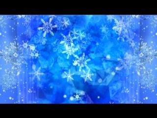 Футаж Снежинки на светло синем фоне