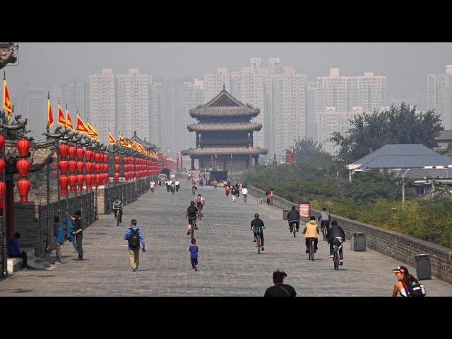 Сиань, город терракотовой армии City Walls Goose Pagodas in 4K (Ultra HD)