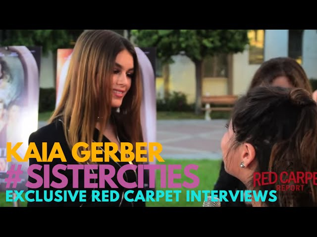 """Interview with Kaia Gerber at Lifetimes Sister Cities"""" Premiere SisterCities"""