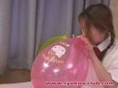 Sexy girl balloon fetish BTP B2p Blow to pop
