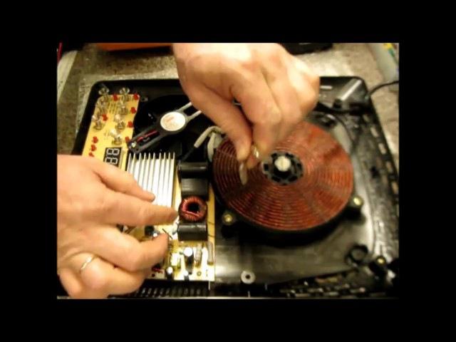 РЕМОНТ ИНДУКЦИОННОЙ ПЛИТЫ 90% всех поломок Repair induction cooker 90% of all breakdowns