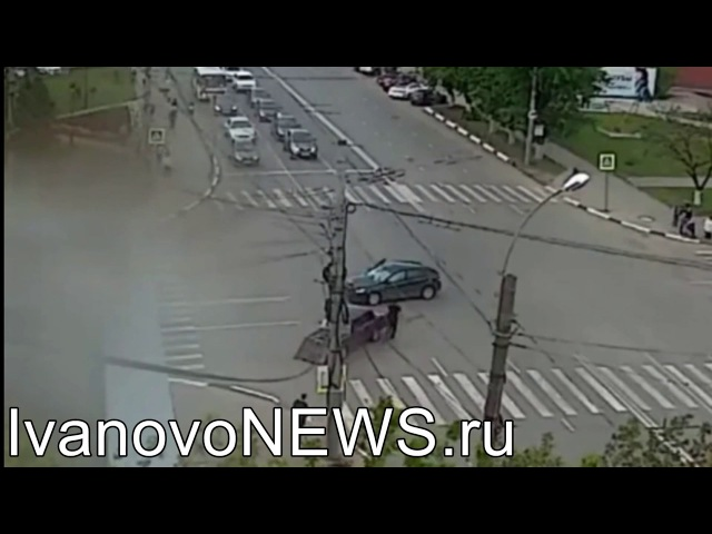 Иваново Столкновение автомобилей