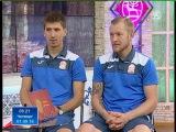 В студии автор первого гола Валерий Кичин и второй забил Мирлан Мурзаев