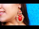 DIY Soutache Ethnic Earrings
