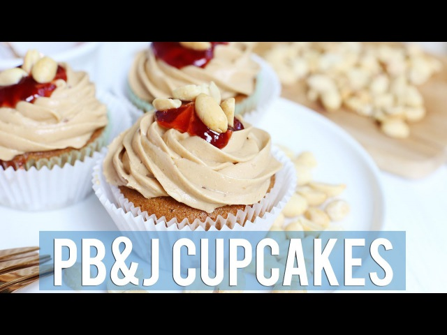 Peanut Butter and Jelly Cupcakes | VEGAN GLUTEN-FREE