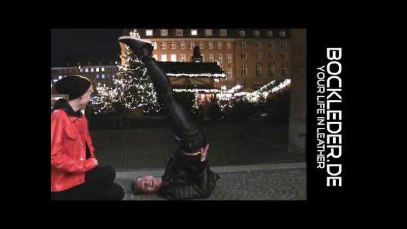 Challenge in Lederhose Lederjeans zu Weihnachten Bockle Boyfriend