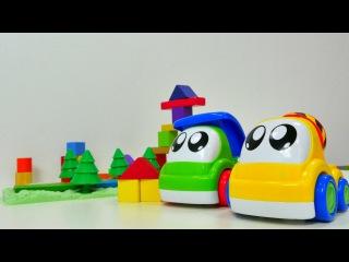 Renkli zeka geliştirici eğitici oyunları Lego- oyuncak kamyonlar ve inşaat oyunu.