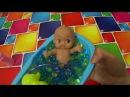Пупсик купается в шариках орбиз принимает веселую ванну