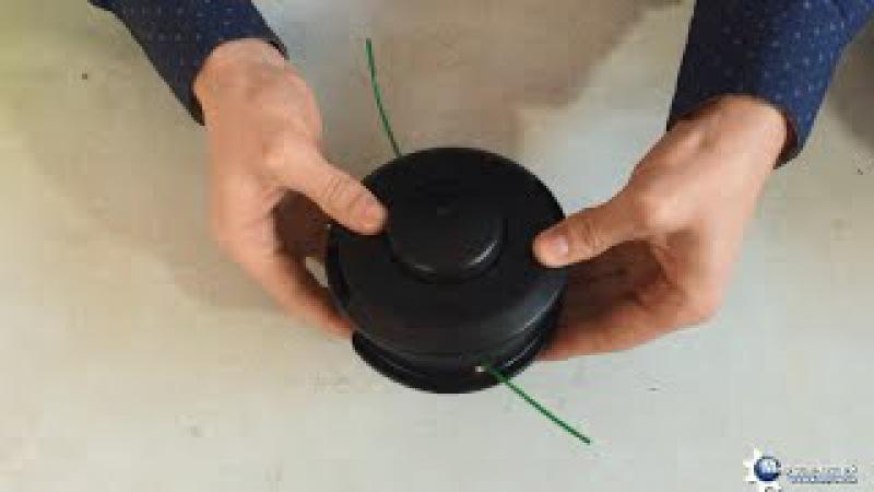 Как намотать леску на косильную головку мотокосы триммера