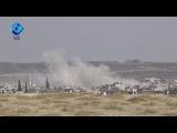 جانب من الغارات الجوية على مدينة خان شيخون &#